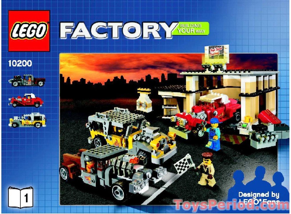 Lego 10200 Custom Car Garage Set Parts Inventory And Instructions