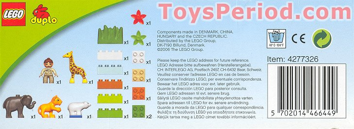 Lego 4962 Baby Zoo Set Parts Inventory And Instructions