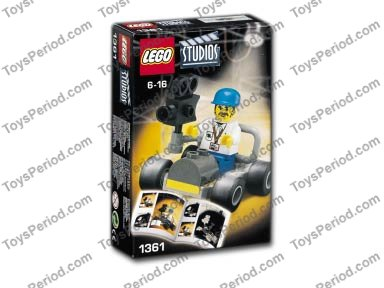 LEGO 1361 Camera Car Set Parts Inventory and Instructions - LEGO ...