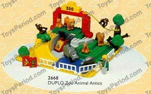 Lego 2668 Children S Zoo Set Parts Inventory And