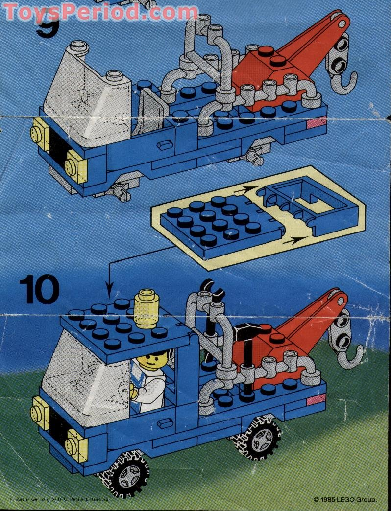 Lego 6656 Tow Truck Set Parts Inventory And Instructions