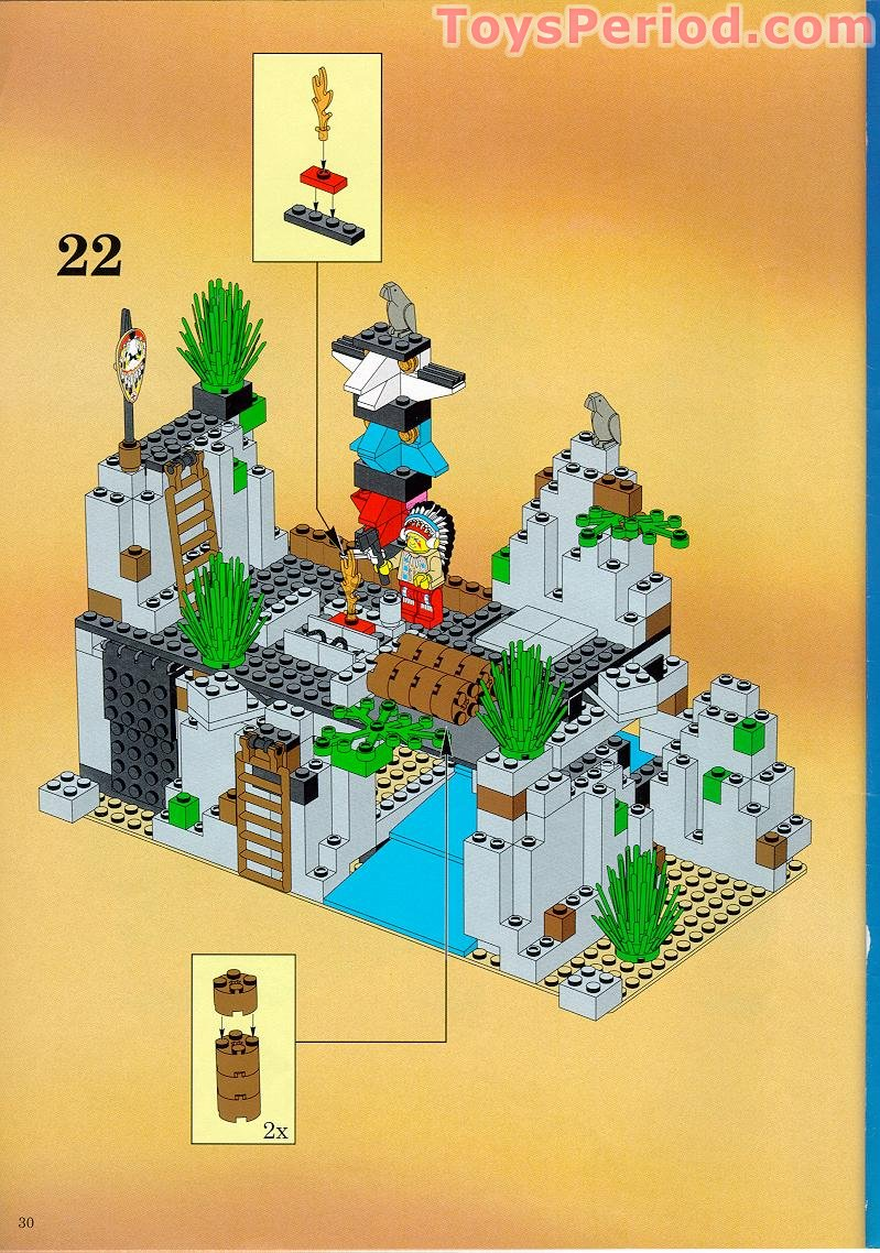 Indian Chief Vintage >> LEGO 6766 Rapid River Village Set Parts Inventory and Instructions - LEGO Reference Guide