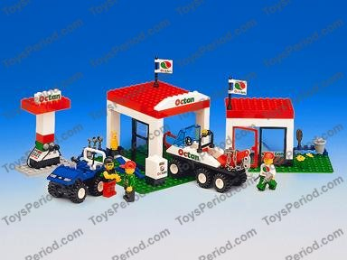 Lego 6548 Octan Gas Station Set Parts Inventory And