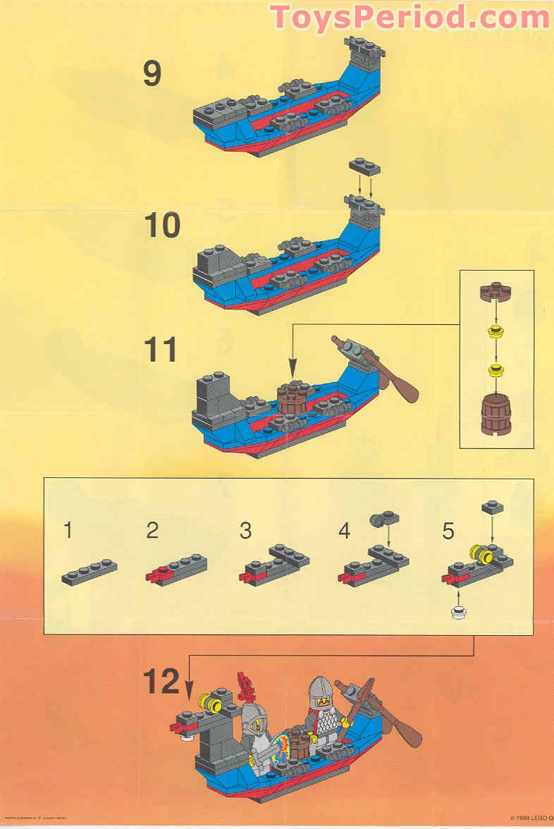 Lego 1547 Black Knight S Boat Set Parts Inventory And