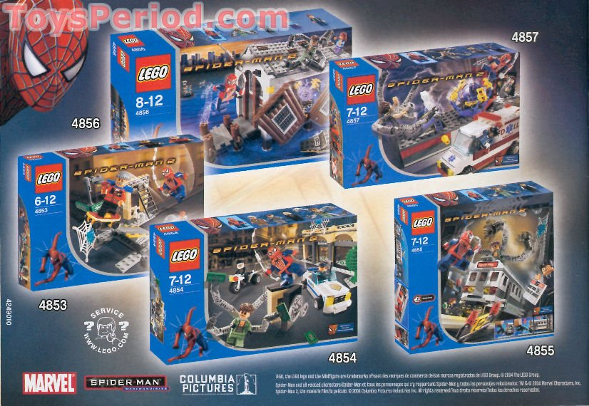 Lego 4857 doc ock 39 s fusion lab set parts inventory and instructions lego reference guide - Lego spiderman 2 ...