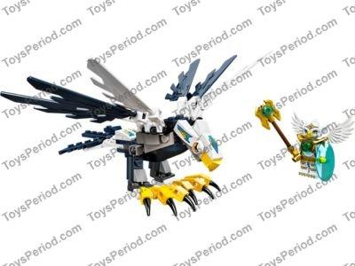 w// Yellow Beak /& Gold Tiara LEGO Headgear Mask Bird White Eagle Minifig