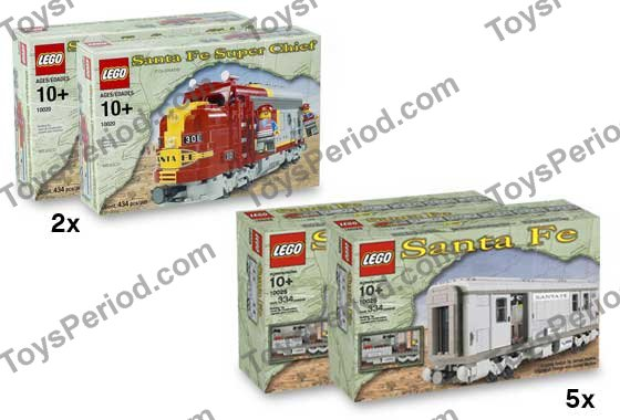 lego santa fe train instructions