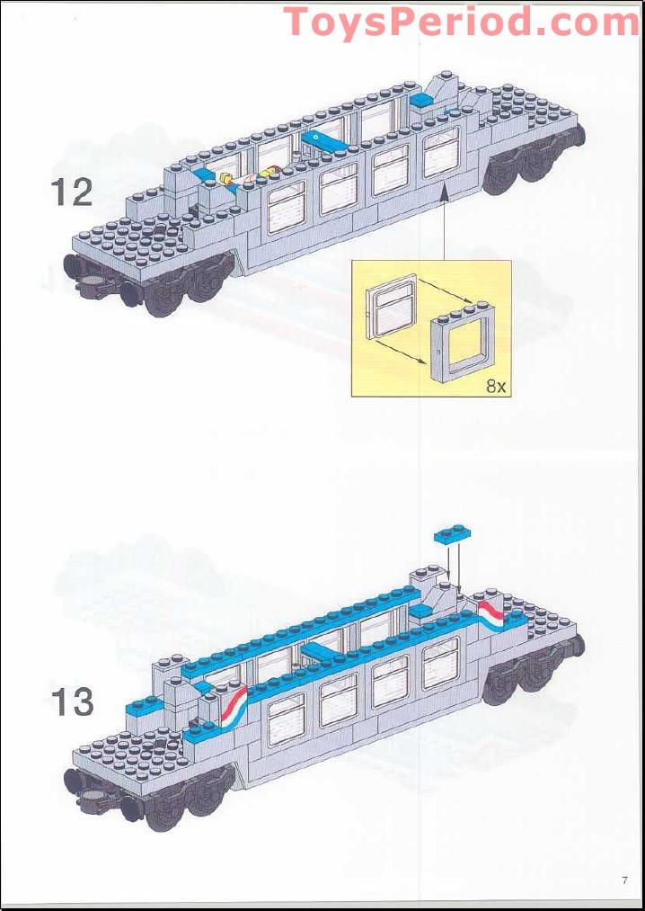 Lego 10002 Railroad Club Car Set Parts Inventory And