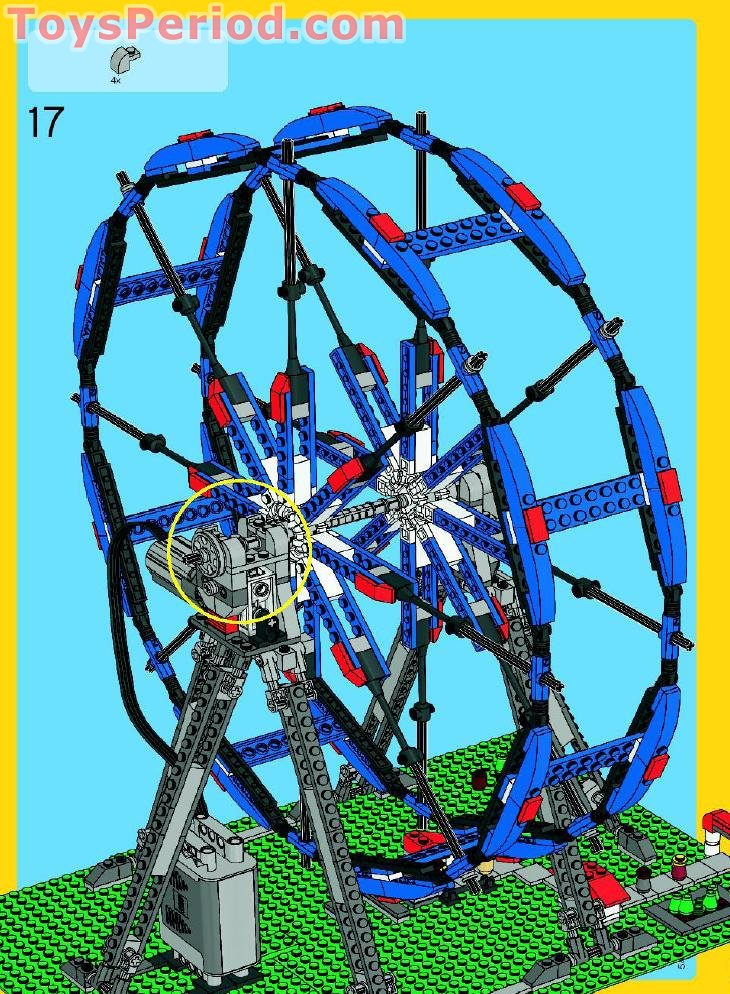 LEGO 4957 Ferris Wheel Set Parts Inventory and Instructions
