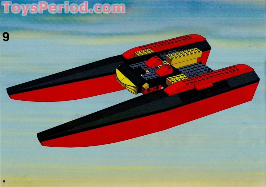 Half Jacket 2 0 >> LEGO 7244 Speedboat Set Parts Inventory and Instructions - LEGO Reference Guide