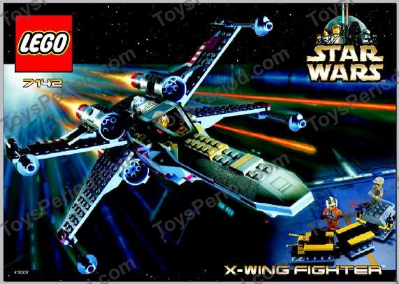 Set 7140 /& 7142 X-wing Fighter LEGO STAR WARS Yellow Space Control Panel 2342
