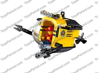 NEW Lego City X2 BLACK SPEAR GUNS Ocean Minifig Diver Harpoon Weapon