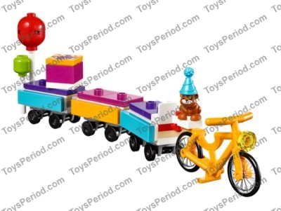 LEGO Friends 41111 Party Train Set Stephanie Hamster Bicycle Balloons New SEALED