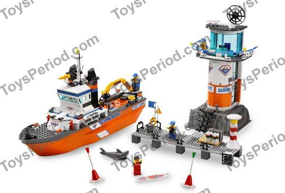 Lego 7739 Coast Guard Patrol Boat And Tower Set Parts