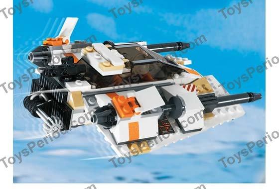 Star Wars LEGO x 10 White Tile 2 x 2 with SW Snowspeeder Vent Pattern Rebel 4500