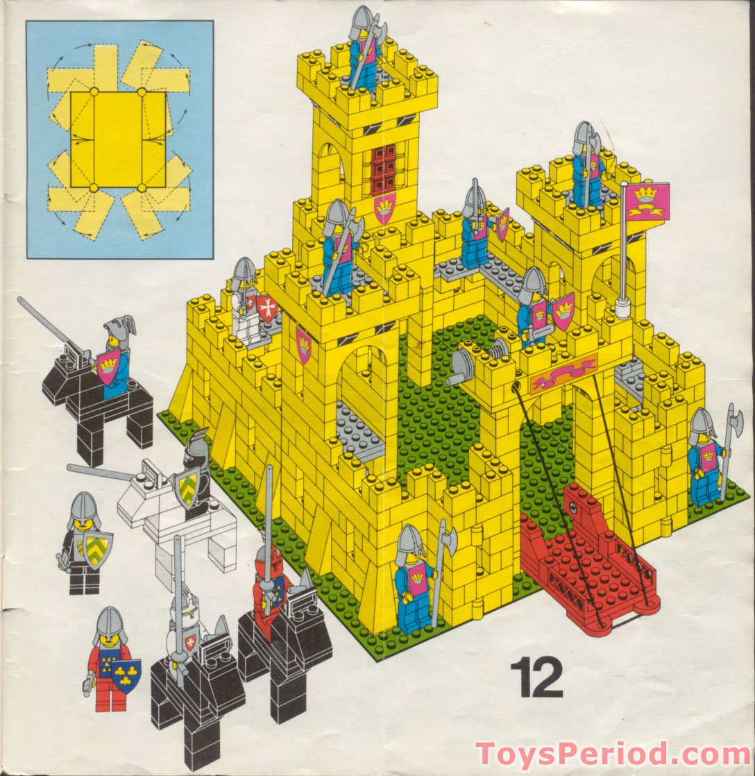 how to build a lego castle instructions