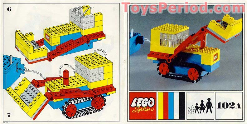 Lego 102a Front End Loader Set Parts Inventory And