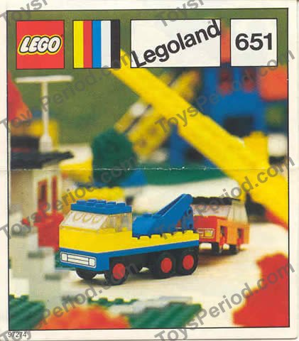 LEGO 651-1 Tow Truck and Car Image 1