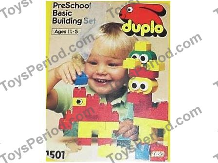 Lego 1501 Large Duplo Preschool Basic Building Set In Yellow Bucket