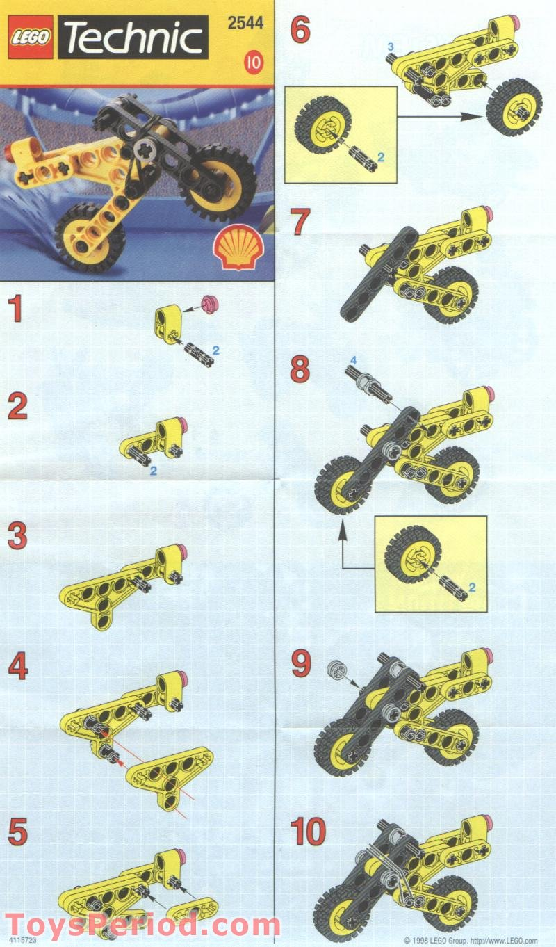 Lego 2544 Shell Promotional Set Technic Motorcycle Set