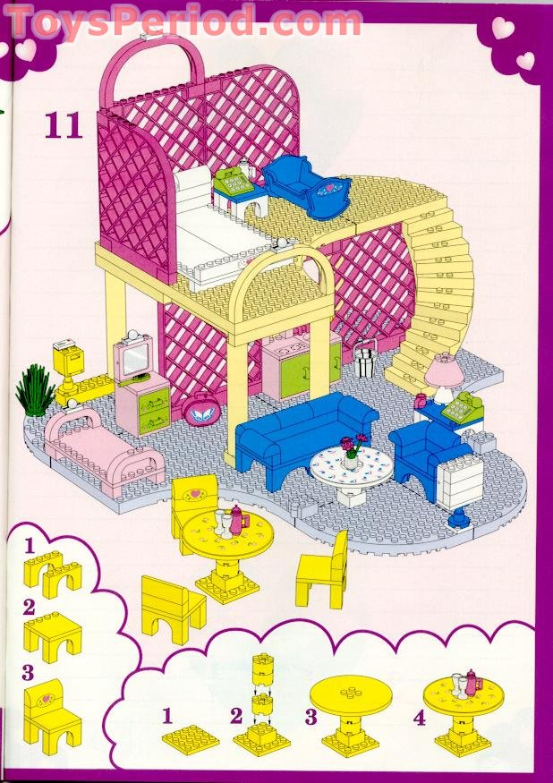 Lego Belville 6177 Yellow Table Jaune stickers du 5890 Pretty Playhouse MOC