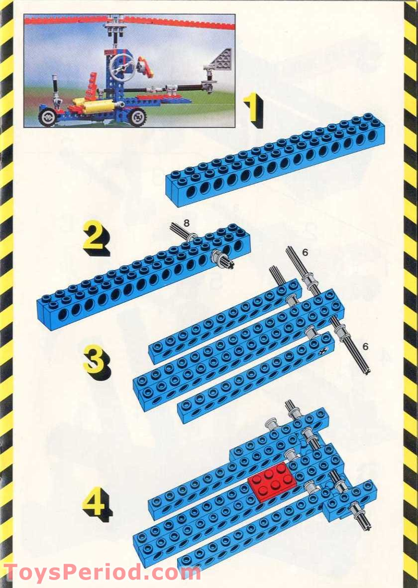 Lego 8844 Helicopter Set Parts Inventory And Instructions Lego