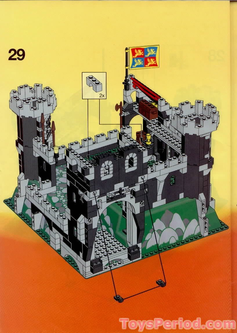 Lego 6086 Black Knights Castle Set Parts Inventory And Instructions