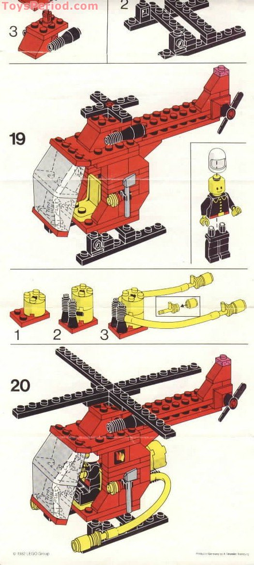Lego 6685 Fire Copter 1 Set Parts Inventory And Instructions Lego