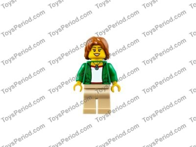 LEGO City MiniFigure Camper Female, w// Tan Legs From Set 60117
