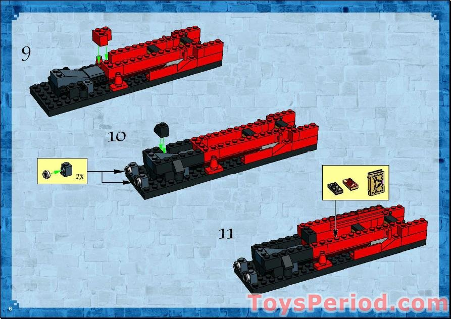 Lego 4758 Hogwarts Express 2nd Edition Set Parts Inventory And