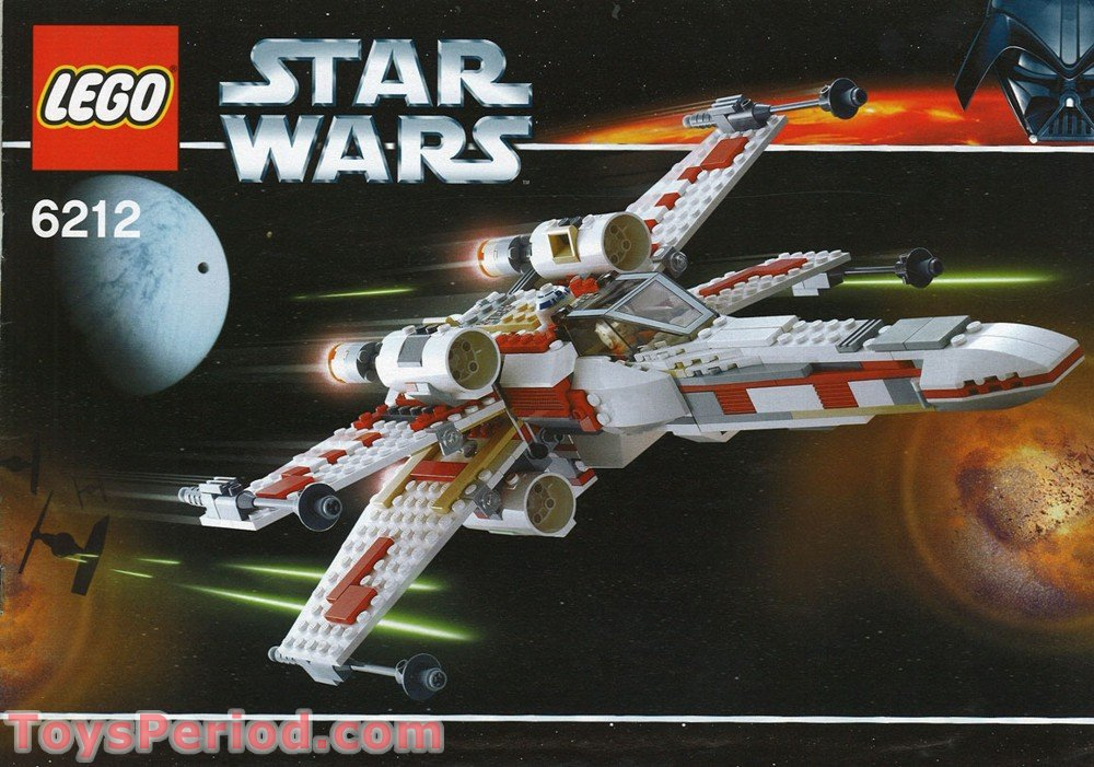 Lego 6212 X Wing Fighter Set Parts Inventory And Instructions Lego