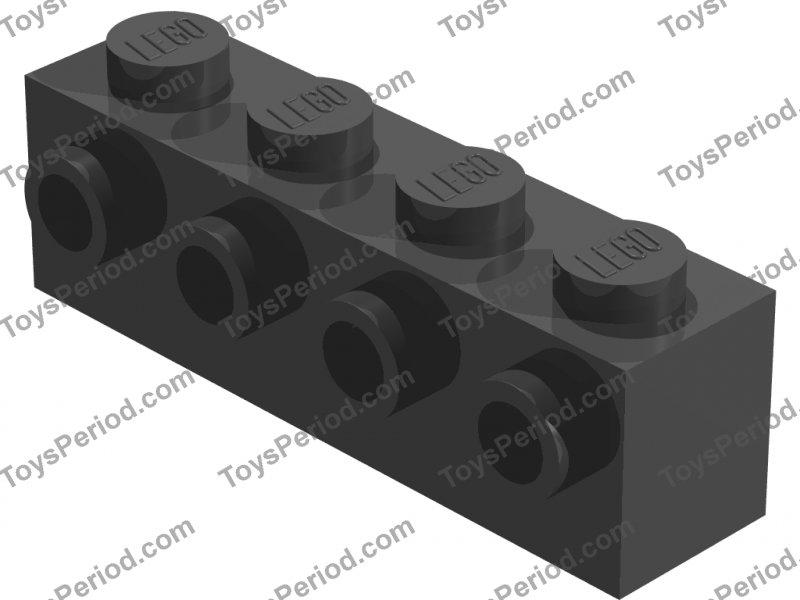 LEGO DARK GREY MODIFIED BRICK WITH STUDS  x 4 PART 30414