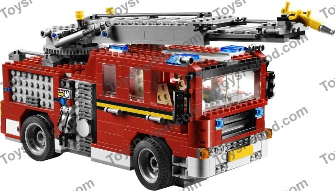 lego 6752 fire rescue truck set parts inventory and instructions lego reference guide. Black Bedroom Furniture Sets. Home Design Ideas