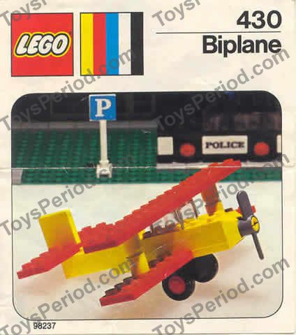 Lego 430 1 Biplane Set Parts Inventory And Instructions
