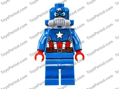 Lego New Hyperion Minifigure Red Torso Muscles Gold Atomic Super Hero Body