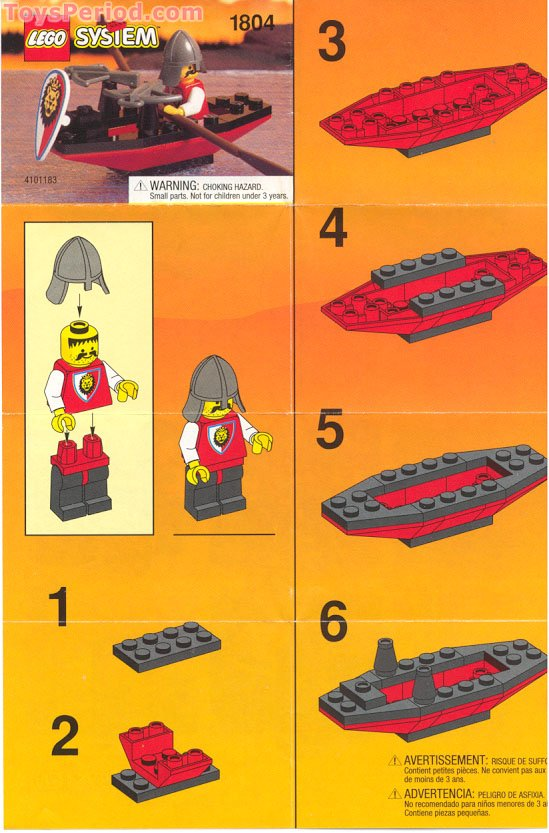 LEGO 1804 Crossbow Boat Set Parts Inventory and ...