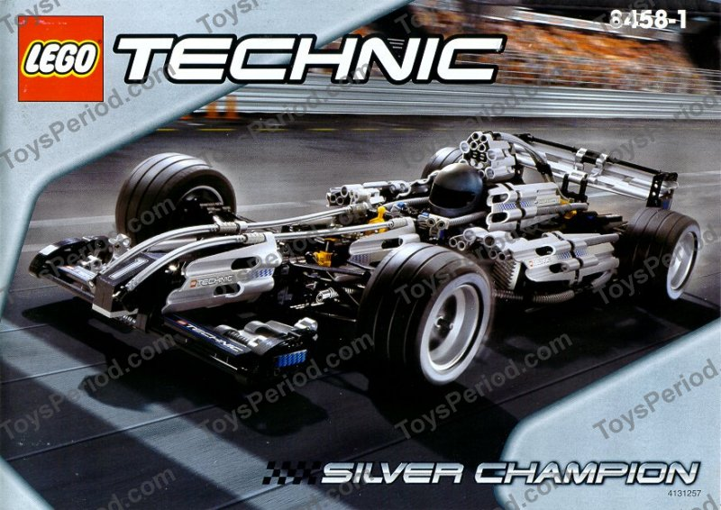 Lego 8458 Silver Champion Racer Set Parts Inventory And