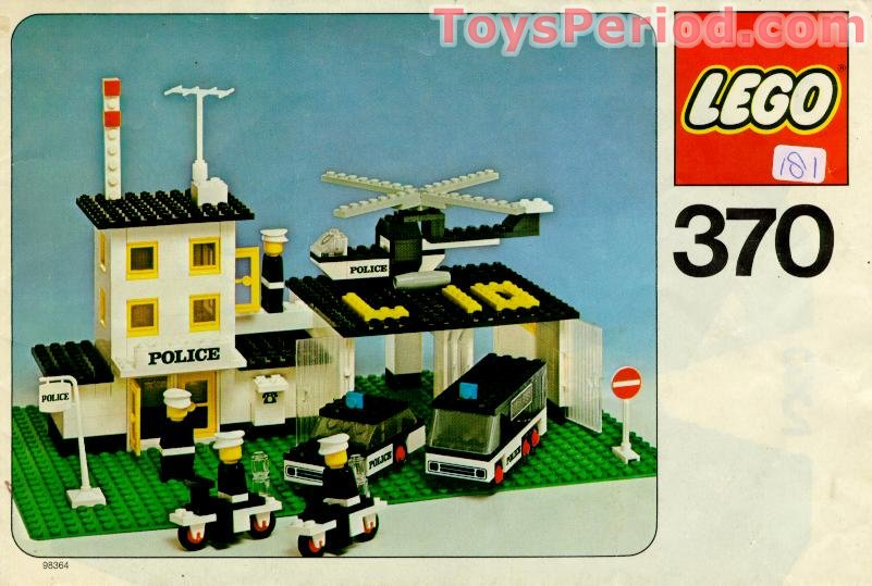 lego 370 police headquarters set parts inventory and instructions lego reference guide. Black Bedroom Furniture Sets. Home Design Ideas