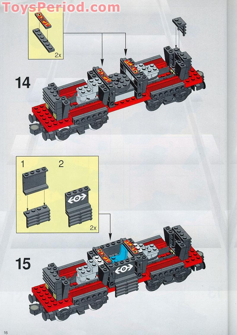 Lego 4565 Freight And Crane Railway Set Parts Inventory