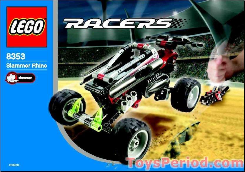 Lego 8353 Slammer Rhino Set Parts Inventory And