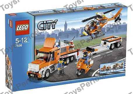 Lego 7686 Helicopter Transporter Set Parts Inventory And