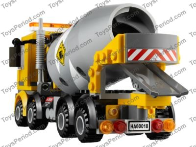 Lego 60018 Cement Mixer Set Parts Inventory And Instructions Lego