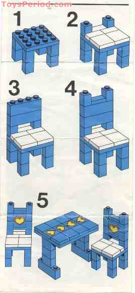 Table and Chairs Free Instruction Page 3  sc 1 st  ToysPeriod & LEGO 275-1 Table and Chairs Set Parts Inventory and Instructions ...