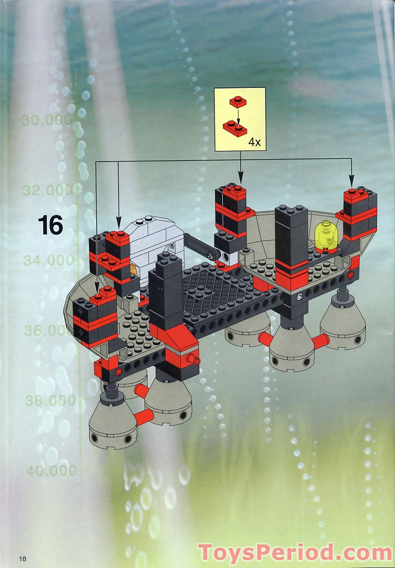 How To Build A Sub Box >> LEGO 4795 Ogel Underwater Base and AT Sub Set Parts ...