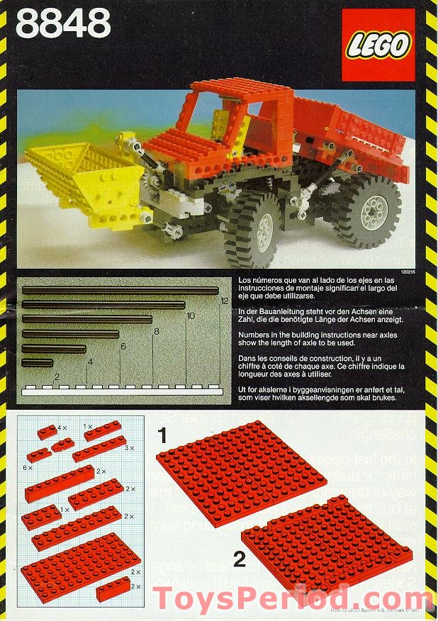 LEGO 8848 Power Truck Set Parts Inventory and Instructions - LEGO
