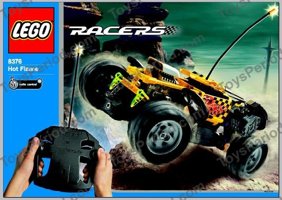 lego 8376 hot flame rc car set parts inventory and instructions lego reference guide. Black Bedroom Furniture Sets. Home Design Ideas
