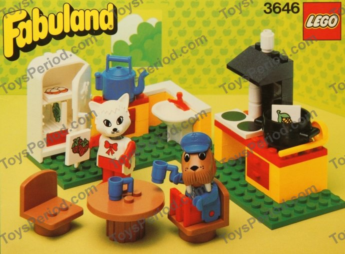 Lego 3646 Catherine Cats Kitchen Set Parts Inventory And