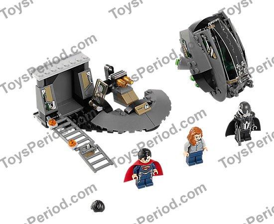 Lego 76009 Superman Black Zero Escape Set Parts Inventory And