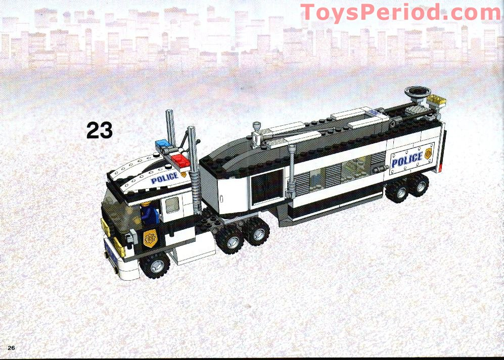 lego police trailer instructions