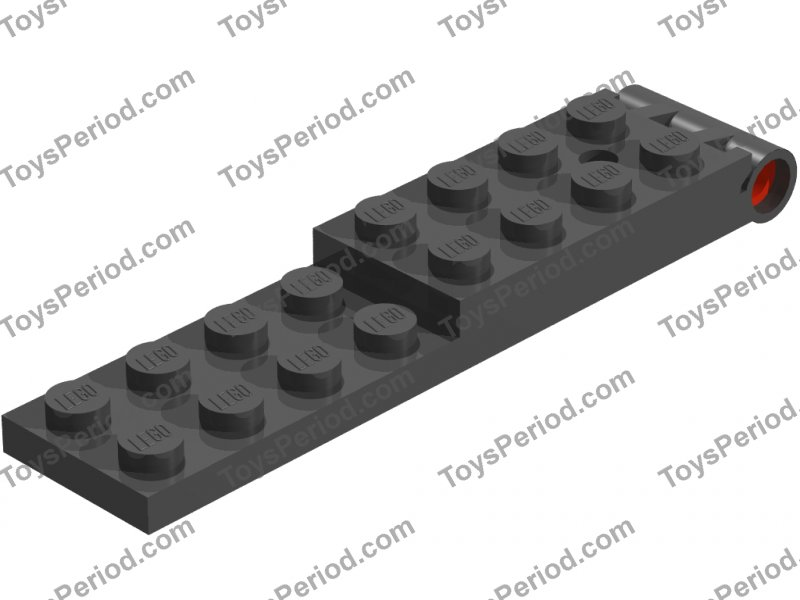 Lego 5 New Black Hinge Plate 2 x 4 with Pin Hole and 3 Holes Bottom Parts